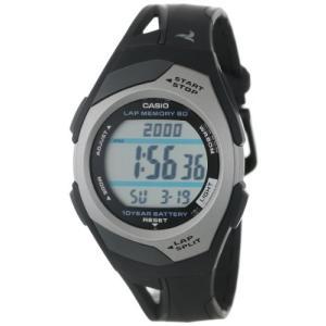 カシオ CASIO 腕時計 PHYS フィズ ランナー ウォッチ LAP MEMORY60 TOUGH BATTERY10 STR-300C-1V ブラック シルバー|oneofakind