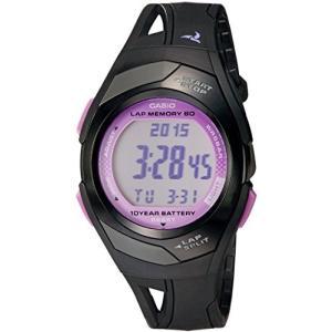 カシオ CASIO 腕時計 時計 PHYS フィズ ランナー ウォッチ LAP MEMORY60 STR-300-1C ブラック パープル 送料無料 プレゼント|oneofakind
