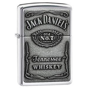 ZIPPO ジッポー ライター Jack Daniel's Lighters ジャック ダニエル ライター 日本未発売 High Polish Chrome Pewter|oneofakind