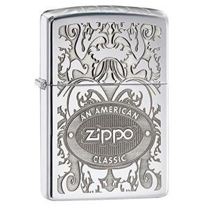 ジッポー ライター ZIPPO 24751 ZIPPOロゴ オイルライター レギュラーサイズ サテンクローム シルバー ジッポライター 銀|oneofakind