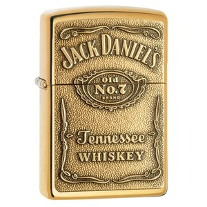 ジッポー ライター ZIPPO ジッポ Jack Daniel's Lighters ジャック ダニエル High Polish Brass Emblem ゴールド オイルライター|oneofakind