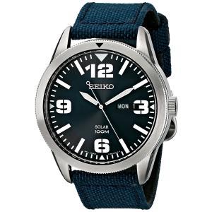 セイコー Seiko 腕時計 Sport Solar Analog Display アナログ ディスプレイ Japanese Quartz Blue Watch SNE329 メンズ ウォッチ 日本製クオーツ|oneofakind