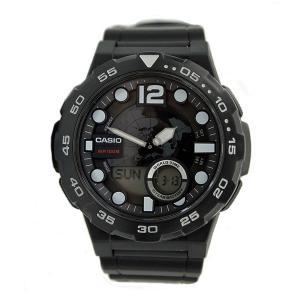 CASIO カシオ 腕時計 STANDARD ANA-DIG スタンダード アナデジ AEQ-100W-1A クォーツ ブラック メンズ 男性用|oneofakind