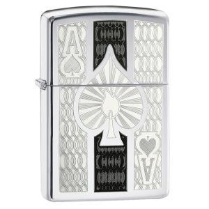 ジッポー ZIPPO ジッポ Ace Lighters エース ライター 日本未発売 High Polish Chrome Ace オイルライター USA ギフト プレゼント oneofakind