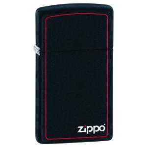 ジッポー ライター ZIPPO ジッポ Black Matte ブラックマット つや消し ZIPPOロゴ SLIM SIZE スリム ZIPPO LIGHTER ジッポライター|oneofakind