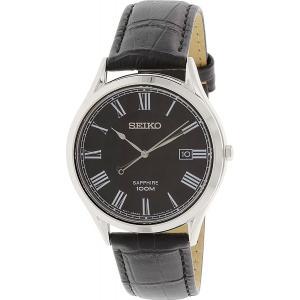 セイコー SEIKO 腕時計 SGEG99 メンズ ブラック アナログ 日付 レザーベルト フォーマル 防水 男性用 ウォッチ|oneofakind