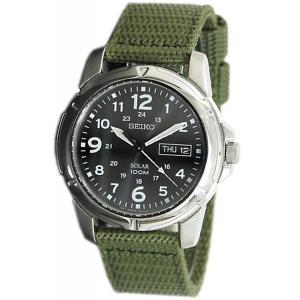 セイコー SEIKO 腕時計 時計 メンズ ソーラー SOLAR SNE095P2  海外モデル カーキ グリーン アナログ 曜日 日付 防水 送料無料 プレゼント|oneofakind