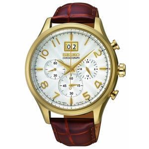セイコー SEIKO メンズ 腕時計 クラシック ビッグデイト クロノグラフ SPC088P1 100m防水 多針 アナログ 本革ベルト レザー 日付|oneofakind