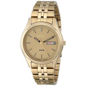 セイコー SEIKO メンズ 腕時計 時計 SNE036 SOLAR ソーラー ゴールド 男性用 ウォッチ 曜日 日付 カレンダー 送料無料 プレゼント|oneofakind