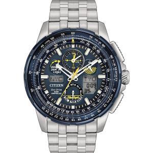シチズン CITIZEN メンズ ウォッチ JY8058-50L エコドライブ スカイホーク アメリカ海軍 ブルーエンジェルズ 電波時計 男性用 腕時計 シルバー クロノグラフ|oneofakind
