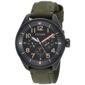 シチズン Citizen メンズ 腕時計 時計 Men's ミリタリー グリーン 日本製クォーツ BU2055-16E 男性用 腕時計 アナログ 送料無料 プレゼント|oneofakind