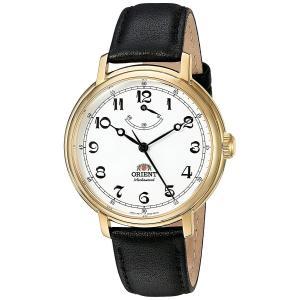 オリエント ORIENT 腕時計 モナーク FDD03001W0 メンズ ウォッチ ホワイト ブラック 牛革バンド 手巻き アナログ ミネラルガラス|oneofakind