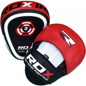 RDX パンチング ミット ボクシング キックボクシング ムエタイ 格闘技 MMA 空手 正規品 レッド 軽量 湿気防止 革 大人気 左右セット|oneofakind