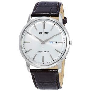 オリエント Orient 時計 FUG1R003W6 43mm Brown Men's Watch 男性 メンズ 腕時計 ホワイト クオーツ アナログ 送料無料 プレゼント|oneofakind