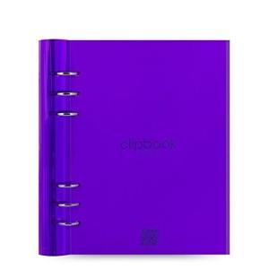 filofax ファイロファックス システム手帳 クリップブック clip book A5 クリアパープル 23614レザー調ポリウレタン ペンホルダー|oneofakind