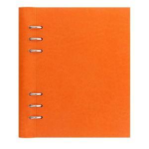 filofax ファイロファックス システム手帳 クリップブック clip book A5 オレンジ 26019 ノートブック レザー調 ペンホルダー|oneofakind