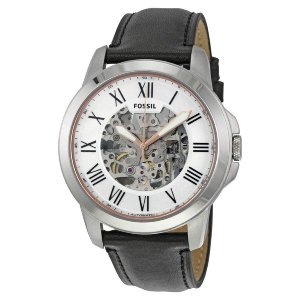 フォッシル FOSSIL 腕時計 時計 メンズ ME3101 シルバー スケルトン Automatic 自動巻き アナログ レザー ブラック 送料無料 プレゼント|oneofakind