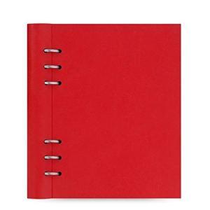 ファイロファックス Filofax A5サイズのクリップブック 赤 Red システム手帳 ペン収納 ...