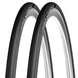 ミシュラン タイヤ MICHELIN リチオン2 V2 Lithion2 クリンチャータイヤ 700c 2本セット ダークグレー 700×25c 自転車 タイヤ 送料無料 プレゼント|oneofakind