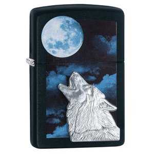 ジッポー ライター ZIPPO Wolf ウルフ ライター 日本未発売 28879 Black Matte Howling オイルライター oneofakind