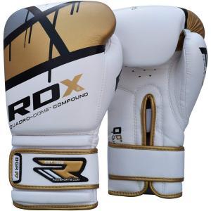 RDX Maya ハイド レザー ボクシング グローブ F7 ゴールド 10oz パンチンググローブ スパーリング|oneofakind