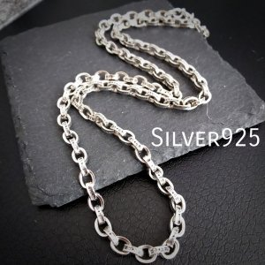 シルバー 925 ペーパーチェーン ネックレス ハンドメイド 手作り 62cm 新品 シルバー925 Silver 925 純銀 スターリングシルバー oneofakind