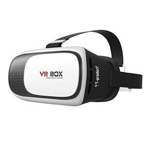 VR ゴーグル T-product ティープロダクト VR BOX 3D VRメガネ ゴーグル スマホ 3D映像体験 バーチャル リアリティ ホワイト 日本正規品|oneofakind