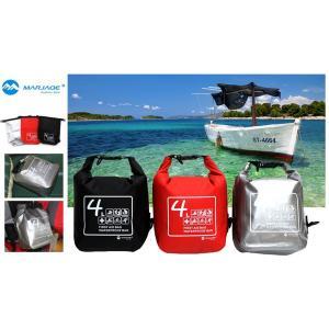 防水バッグ 完全防水バッグ メール便送料無料 ドライバッグ 4L  ウォータープルーフ ビーチバッグ ドライチューブ|oneplaceone