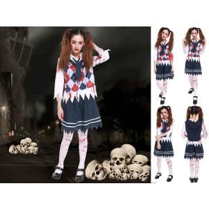 ◆送料540円◆ハロウィン 学生 制服  コスチューム 血のり ゾンビ コスプレ 衣装|oneplaceone