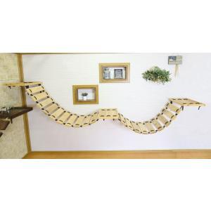 木製 ネコ用 吊り橋 キャットウォーク Wタイプ 軽量タイプ