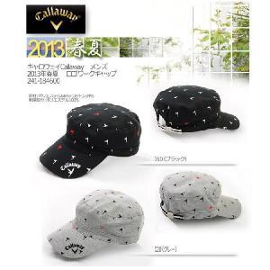 帽子 CAP  キャロウェイ Callaway メンズ2013年春夏  ロゴワークキャップ10039831-241-184600|onepoint