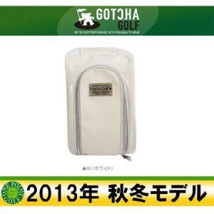ガッチャゴルフ GOTCHA GOLF 2013年秋冬 ホワイトPUシューズケース 10040800-99GG8521|onepoint