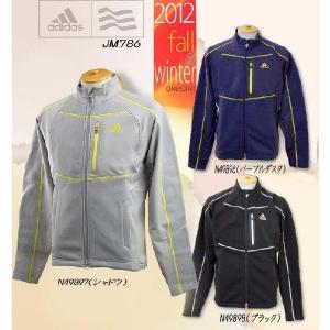秋冬 ゴルフウエア ジャケット ブルゾン  アディダス adidas メンズ 2012年秋冬 JP ステッチドフリース 長袖フルジップジャケット 10045236-JM786 onepoint