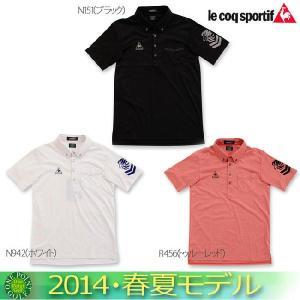 ゴルフウエア ルコックゴルフ  le coq  メンズ2014年春夏   半袖ボタンダウンシャツ10048705-QG2827新作 ウエア 2014|onepoint