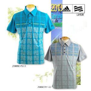 ゴルフウエア ポロシャツ アディダス adidas メンズ 2013年春夏 ClimaCool フロントプリント 半袖ポロシャツ 10049018-UV939|onepoint