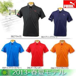 ゴルフウエア ポロシャツ プーマ PUMA メンズ 2013年春夏 ゴルフ 半袖ソリッドポロシャツ 10049104-902554|onepoint