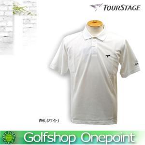 ゴルフウエア ポロシャツ ツアーステージ TOURSTAGE 半袖ポロシャツ カラー:ホワイト10060422-59T01A|onepoint