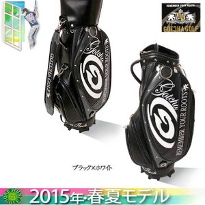 ガッチャゴルフ GOTCHA GOLF2015年春夏新作 キャディーバッグ 9型 3.7kg カラー:ブラック×ホワイト10060498-99GG8524|onepoint