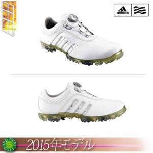 アディダス adidas メンズ 2015年モデル pure metal Boa ピュア メタル ボア カラー:WHITE/SILVERMETALLIC/BRONZEMETALLIC ゴルフシューズ 10074814-Q44619|onepoint