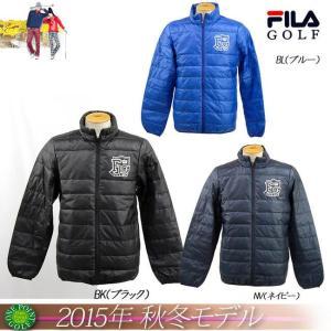 ゴルフウエアフィラ FILA メンズ2015年秋冬新作 ライトダウンブルゾン 10075099-785201 onepoint