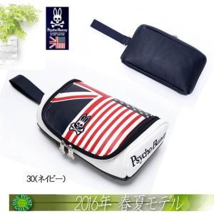 サイコバニー Psycho Bunny2016年春夏 A/A FLAG ポーチ 10075521-PBMG6SE3|onepoint