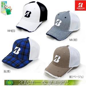 帽子 ブリヂストン BRIDGESTONE メンズ2016年春夏新作 プロモデル ハーフメッシュキャップ 10075976-CPG613|onepoint