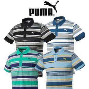 PUMA SPORTS プーマスポーツ メンズ ストライプポロシャツ 838863 10076433-838863|onepoint