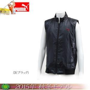 プーマ PUMA メンズ 2015年秋冬 ゴルフ サーキットベスト カラー:ブラック10076557-923185|onepoint