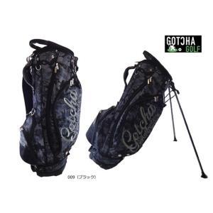 ガッチャゴルフ GOTCHA GOLF2017年春夏 カモ柄 キャディバッグ9型 3.6kg カラー:ブラック99GG8535 10078000|onepoint