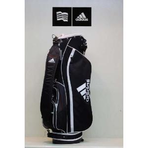 【アウトレット】アディダス【adidas】ウィメンズ カジュアルスタンドキャディバッグ JM026 カラー:ブラック/ホワイト(BK/WH N50838)|onepoint