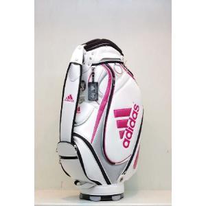 【アウトレット】アディダス【adidas】メンズJM122 SPパフォーマンスキャディバッグ [ホワイト/ピンク] N50843|onepoint