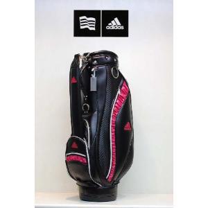 【アウトレット】アディダス【adidas】ウィメンズ10FW Gather キャディバッグ JM141 カラー:ブラック/ピンク (BK/PI N50902 )|onepoint