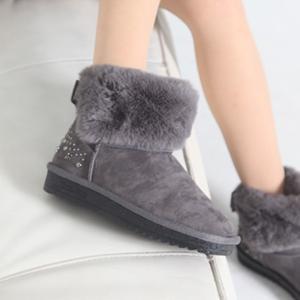ムートンブーツ ショートブーツ ビジュー フェイクファー ブーツ レディース 秋 ファッション レディース 靴 婦人靴 30代 40代