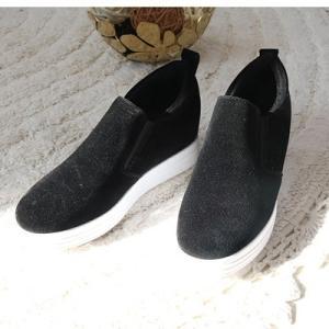 スリッポン レディース スニーカー 裏起毛 ヌバックレザー 2017 秋 冬 ファッション 靴 婦人靴|ones-style